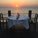 Sunset dinner on the jetty - a must!!!!