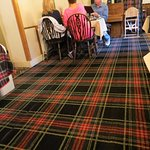 They LOVE the tartan here-Dining Room