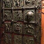 The old brass door.