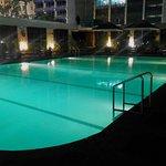 Hilton poolside
