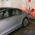 Tesla Charging stations - close to the entrance from the parking garage and always available