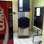 Lovely vending area with non functioning equipment