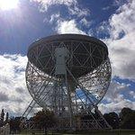 Lovell telescope facing directly upwards