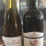 Our favorites, Merlot and Late Harvest Riesling (both 2013)