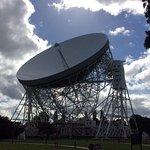 Lovell telescope from the tea garden, wonderful sight.
