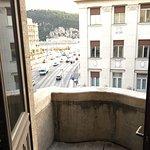 One of the 4 balconies in corner suite room 302