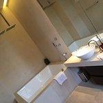 Massive bathroom in room 302 corner suite.