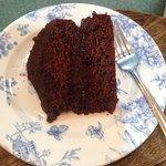 Very yummy chocolate cake.