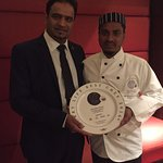 Our Alcombe tandoori chef receiving curry life awards 20016