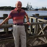Yours truly on the boardwalk with the Battleship USS North Carolina in the background, 17 Nov 15