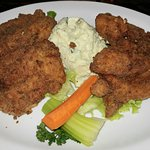 Fried Chicken Breasts with Potato Salad