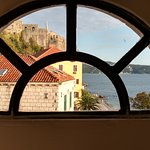 Forte Mare through the arched window..