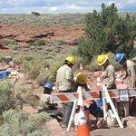 Rangers Working on Impriving Trail - Wukoki Runin, Wapatki National Monument