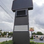 Closed, Blacked Out Econo Lodge Sign on Indiana State Road 933 , 515 N Dixie Way South Bend Indi
