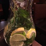 At the hotel restaurant, this beautiful creation of water by Daan, our restaurant host tonight.