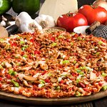 """The """"Original"""" Royal Feast - Pepperoni, sausage, onions, mushrooms, and green peppers."""