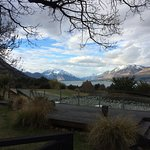 View over Lake Ohau from the deck outside the bar and restaurant.
