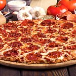 The Pepperoni Feast - Two types of pepperoni; ground & round!