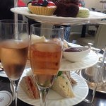 Champagne afternoon tea