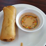 Complimentary egg roll