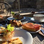Beautiful home cooked breakfast on the terrace!