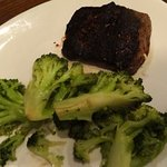6 oz Sirloin and broccoli (very water logged)