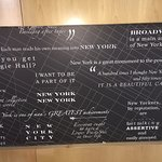 This is the headboard on the beds, it has quotes about NYC