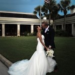 we had the flag on our background because we're planning to do another wedding outside the count