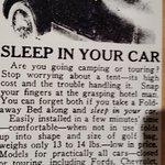 Sleep in your modern car tonight