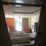 View from bathroom/ toilet/ shower - no privacy or dignity!