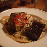 Great atmosphere, superb service, outstanding food and drinks.  Braised short ribs with wild mus