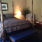 Comfortable four poster bed