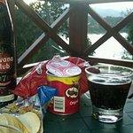 Tiempo de snacks en el balcon