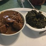 Beef Tips with Rice and Greens