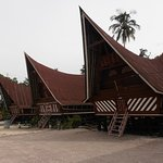 Traditional roofed houses of the Batak people