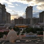 The view from the 6th floor, strip view, looking towards Caesars Palace