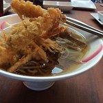 Soba tempura aka tempura soba ($16)