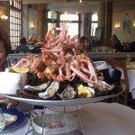 plateau de fruits de mer pour deux.