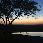 Amarula by the pool and a perfect African sunset over the watering hole at Elandela.