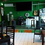 The Shamrock Irish pub.
