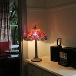 Handsome collection of Tiffany lamps.