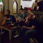 Traditional live band in the charming bar