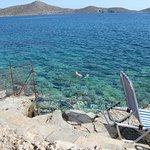rocky, private beach