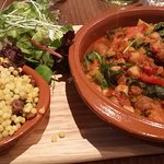 Squash Tagine (With spinach, figs and chickpeas)