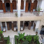 The inside of the Riad