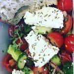 Greek Salad with Sourdough