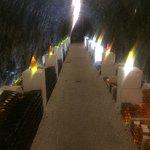 Going around the hotel's cellar