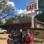 Great motorcycle destination.  Front of the menu.