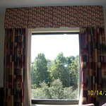 Mismatched valance and curtains