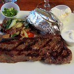 New York steak medium rare